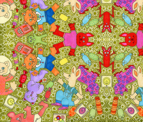 It's Raining Candy and Paper Mache fabric by edsel2084 on Spoonflower - custom fabric