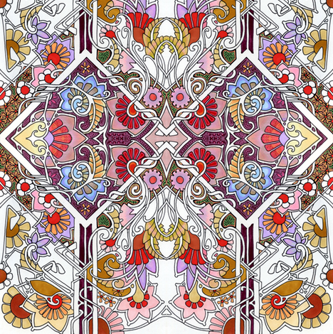 The Flowering fabric by edsel2084 on Spoonflower - custom fabric