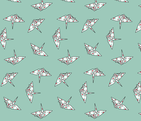 Crane Flight fabric by geocool on Spoonflower - custom fabric