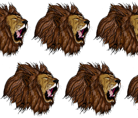 Lions Head  fabric by portugaldesignlab on Spoonflower - custom fabric