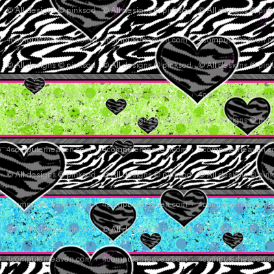 Zebra Wild! - Polka Stripes - © PinkSodaPop 4ComputerHeaven.com