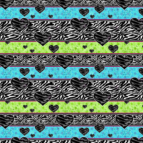 Zebra Wild! - Polka Stripes - © PinkSodaPop 4ComputerHeaven.com fabric by pinksodapop on Spoonflower - custom fabric