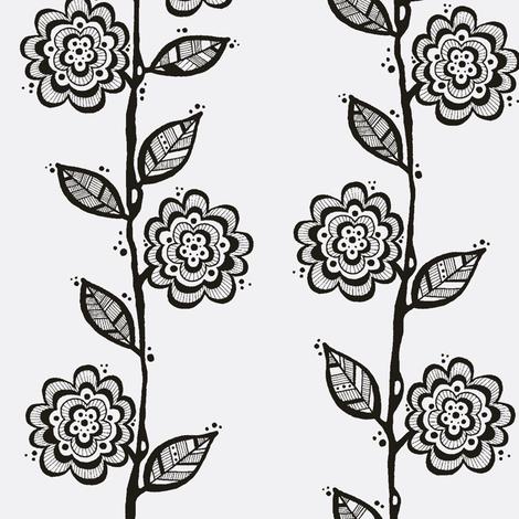 BlackWhite Vine fabric by toni_elaine on Spoonflower - custom fabric