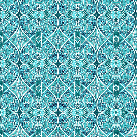 We Fell In Love During the Great War (aqua) fabric by edsel2084 on Spoonflower - custom fabric