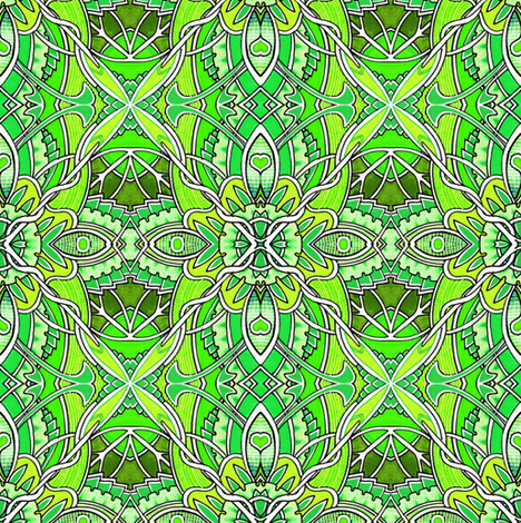 Petal Pushers (limeade) fabric by edsel2084 on Spoonflower - custom fabric