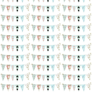 French Script Bunting