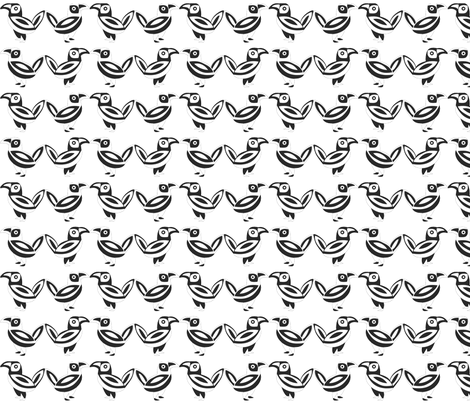 2-Color Birds fabric by brandymiller on Spoonflower - custom fabric
