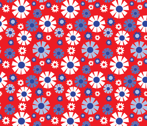 wallpaper flower (bicentennial) fabric by mossbadger on Spoonflower - custom fabric