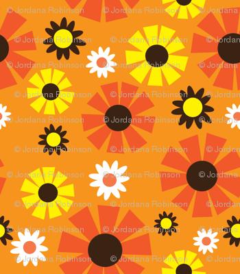 wallpaper flower (orange)