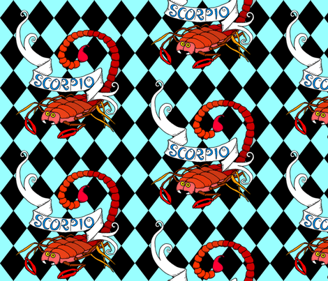 Carnival Scorpio fabric by beesocks on Spoonflower - custom fabric