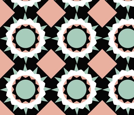 Four color flower fabric by brandymiller on Spoonflower - custom fabric