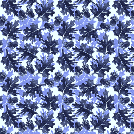 ©2011 Autumn Blues fabric by glimmericks on Spoonflower - custom fabric