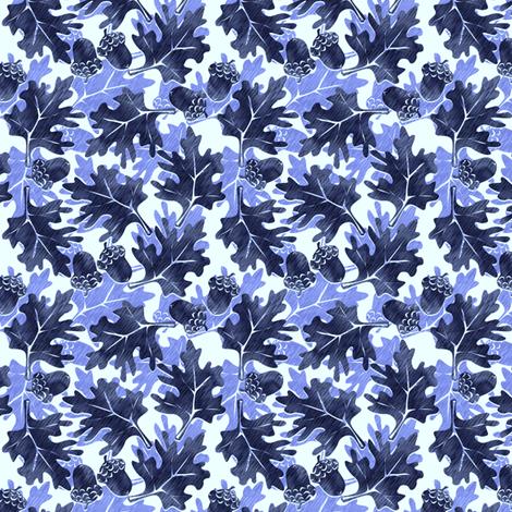 ©2011 Autumn Blues fabric by glimmericks on Spoonflower - custom fabric