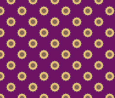 Autumn Flower Print on purple fabric by brandymiller on Spoonflower - custom fabric