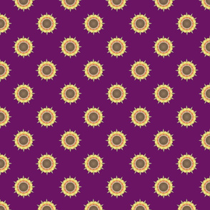 Autumn Flower Print on purple