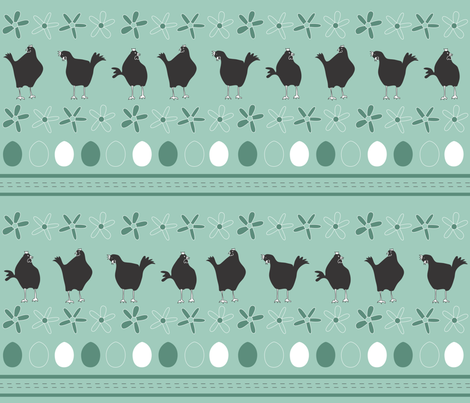 my chickens fabric by shiny on Spoonflower - custom fabric