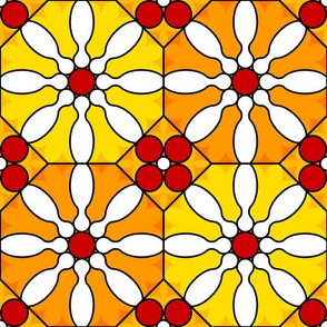 skittle flower stained glass