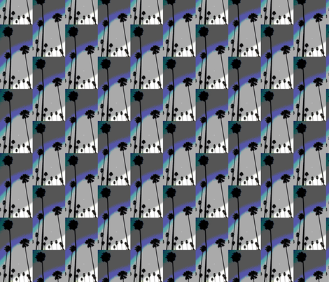 PalmTreesSteelBlues fabric by insatiablefaith on Spoonflower - custom fabric