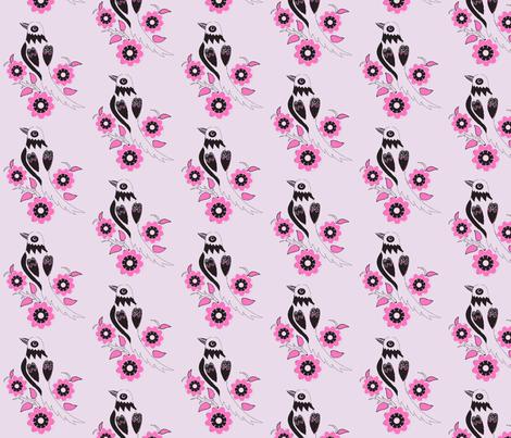 oriental style bird-ch fabric by vinkeli on Spoonflower - custom fabric