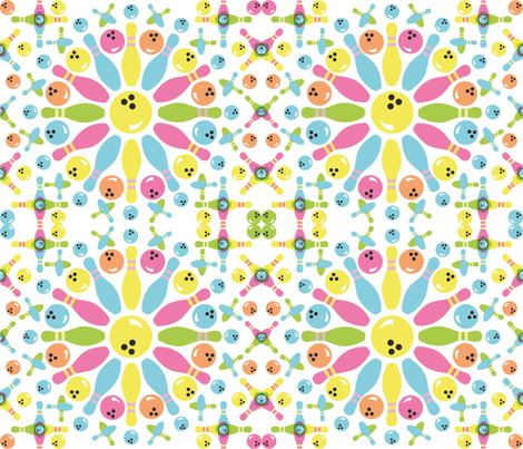 colorful_bowling fabric by littleturtle on Spoonflower - custom fabric