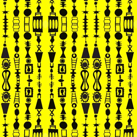 Cameo Stripes on Yellow fabric by boris_thumbkin on Spoonflower - custom fabric