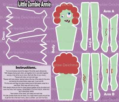 Little Zombie Annie (plushie pattern)