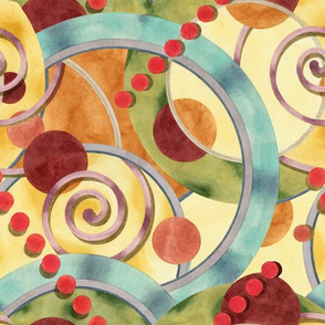 Europa Watercolour Design by Patricia Shea