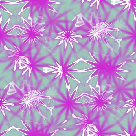 Frosty Flowers fabric by angelsgreen on Spoonflower - custom fabric
