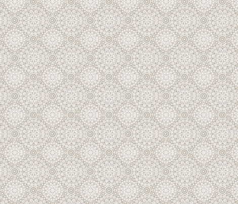 Lace Taupe fabric by glimmericks on Spoonflower - custom fabric
