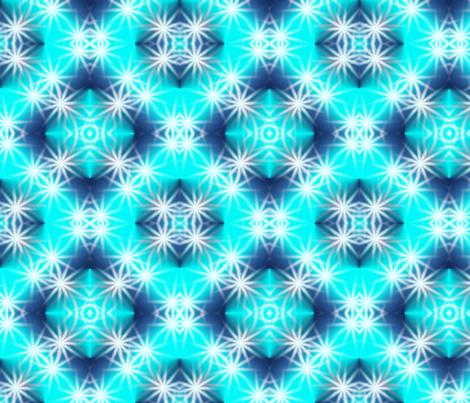Frosty Winter Stars fabric by angelsgreen on Spoonflower - custom fabric