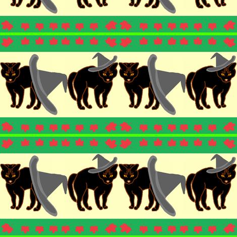 BlackCatGE-Ribbon2 fabric by grannynan on Spoonflower - custom fabric