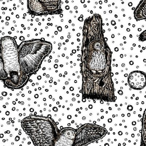 Owls_at_Dawn_by_Teja_Williams_half_drop_white_30x60_cm_repeat