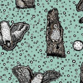 Owls_at_Dusk_by_Teja_Williams_half_drop_blue_30x60_cm_repeat
