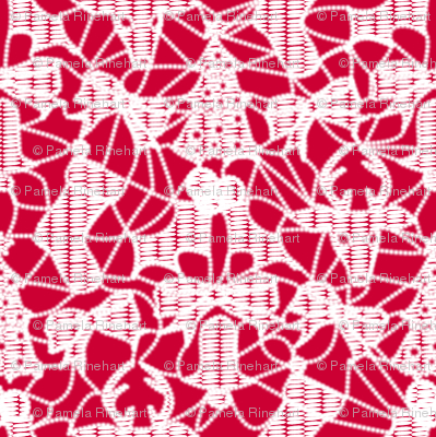 Christmas Lace - Red