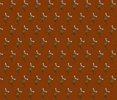 Cartoon Moose fabric by graphicdoodles on Spoonflower - custom fabric
