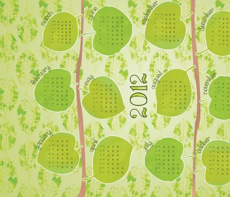 New Leaf 2012 Calendar fabric by wildnotions on Spoonflower - custom fabric