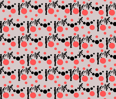 The Bowling Evolution fabric by margarite on Spoonflower - custom fabric