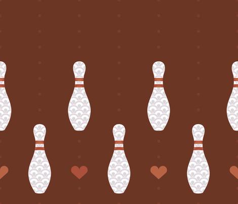 I Heart Bowling fabric by jgreenwalt on Spoonflower - custom fabric