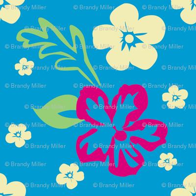 Aloha! Hawaiian Fabric in Blue