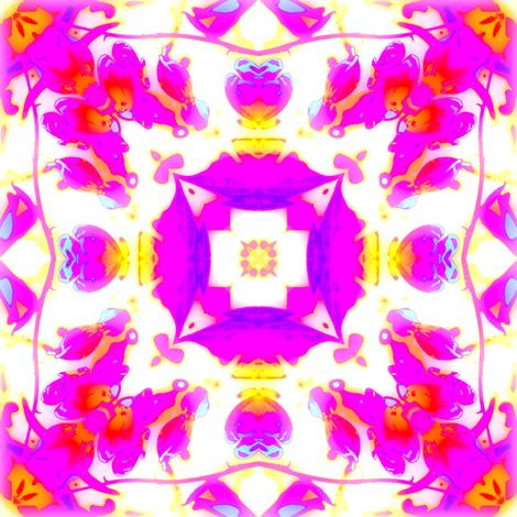 Bleeding Hearts Mandala 2 fabric by dovetail_designs on Spoonflower - custom fabric