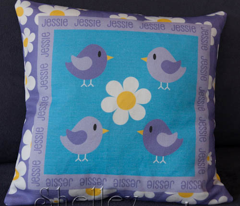 Little Birdy Zig Zag Cheater Quilt