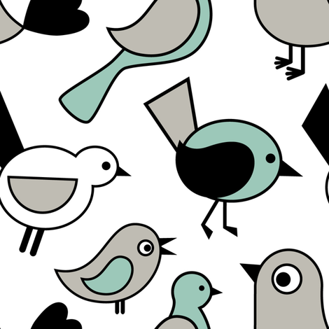 Contest Birds fabric by martinaness on Spoonflower - custom fabric