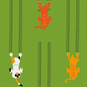 manche KATZEn KrATZEn - some CATs sCrATch - green