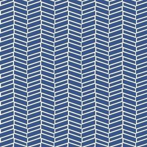 Modern Herringbone / Navy