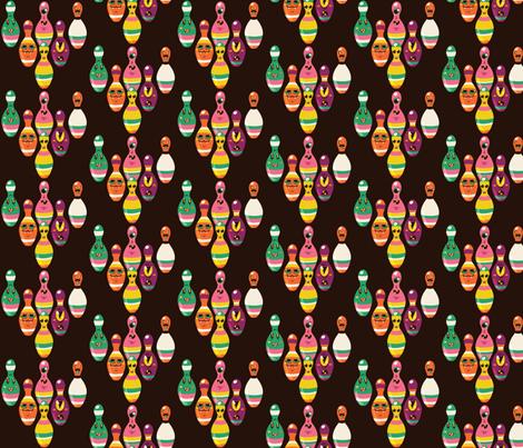 Monster Bowling Pins fabric by irrimiri on Spoonflower - custom fabric