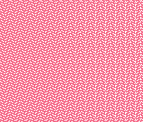 Modern Herringbone / Coral fabric by mjdesigns on Spoonflower - custom fabric