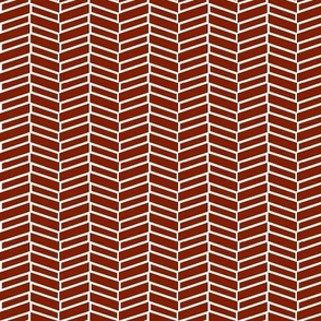 Modern Herringbone / Burnt Orange