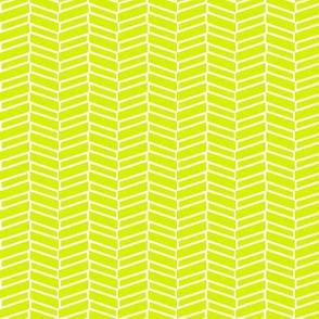 Modern Herringbone / Lime