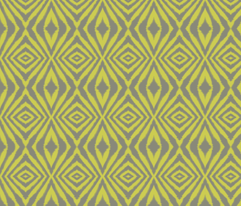 Organic Diamond Grey and Yellow  fabric by bluenini on Spoonflower - custom fabric