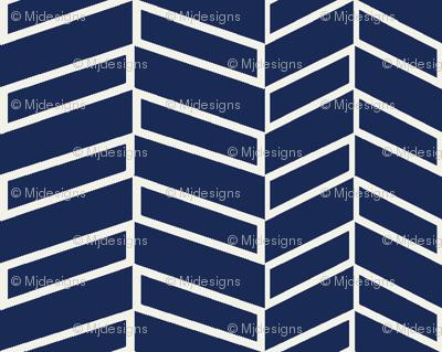 Assymetrical Herringbone / Navy
